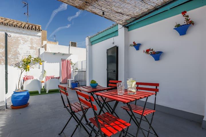Apartamento tradicional Sevillano.A/CWiFi/Catedral