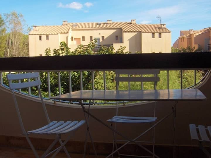 Studio in Marseillan, with furnished terrace - 100 m from the beach