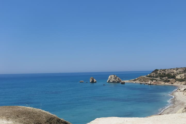 Aphrodite's rock close by .Amazing to see for the visitor and plenty to do close by.