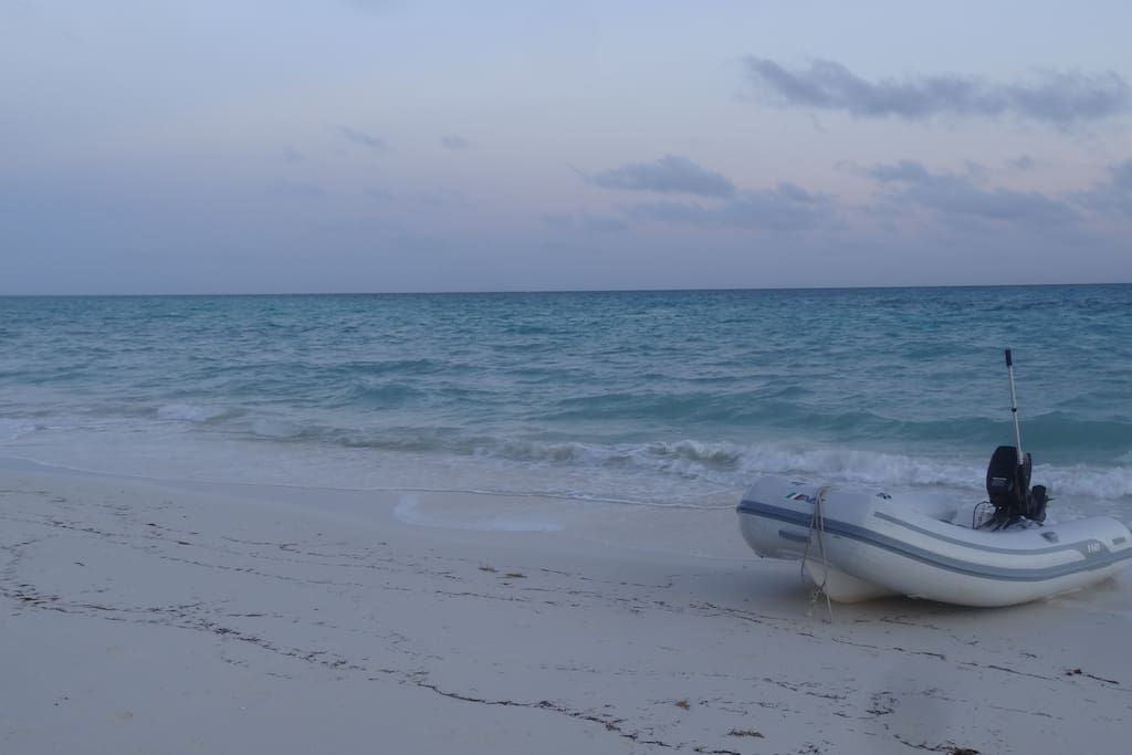 Dinghy at the beach 2 minutes away
