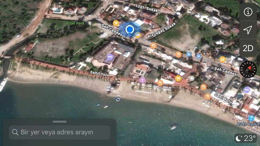 Bitezde sahile sıfır 2 + 1  ev