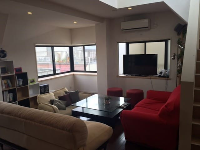 Spacious & Cozy flat with rooftop, near Shibuya