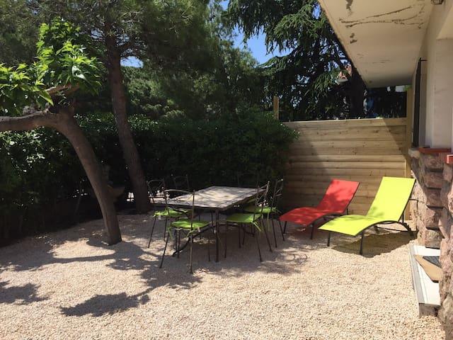 Appartement+jardin dans maison à 300 m de la mer - Saint-Cyprien - Leilighet