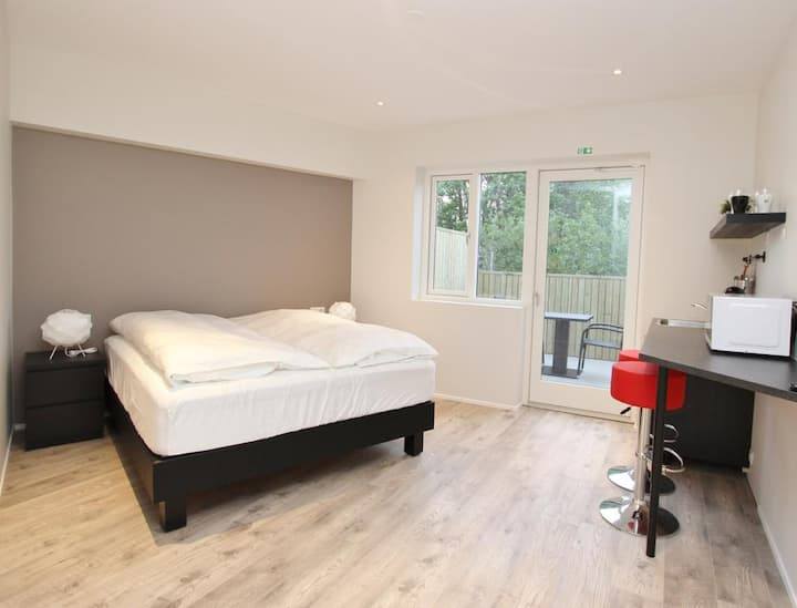 A Deluxe Double Room in the Center of Akureyri