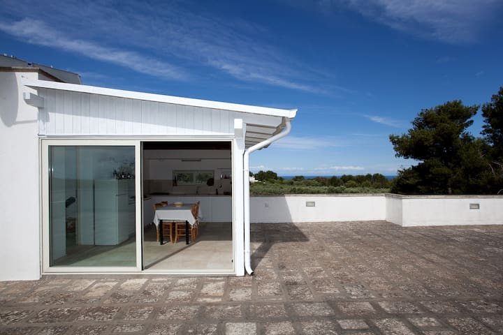 536 Penthouse with Pool and Tennis - Leuca - Apartamento