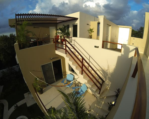Penthouse - Pool, Panorama Rooftop-Terrace, Garden