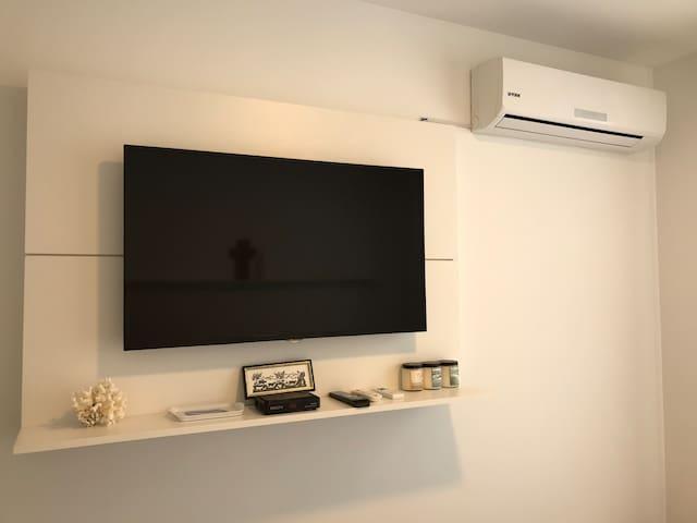 Aire acondicionado en cada dormitorio  Cable direct tv , netflix