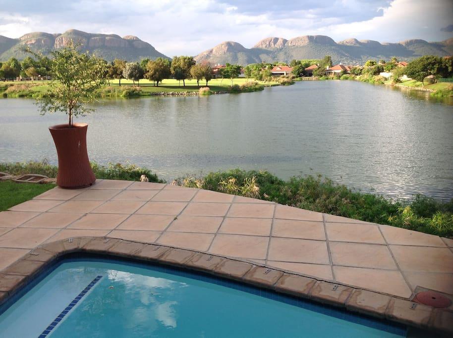 Veranda with splash pool