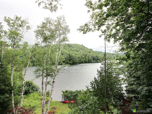 Sunny Cabin lakefront near Mont-Tremblant! - La Conception - Holiday home