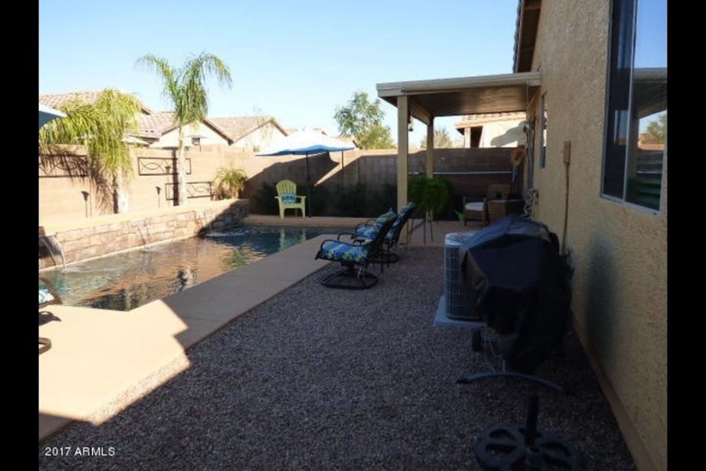 Covered patio to cool off