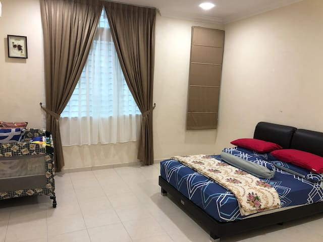 Master Bedroom with aircond + ceiling fan