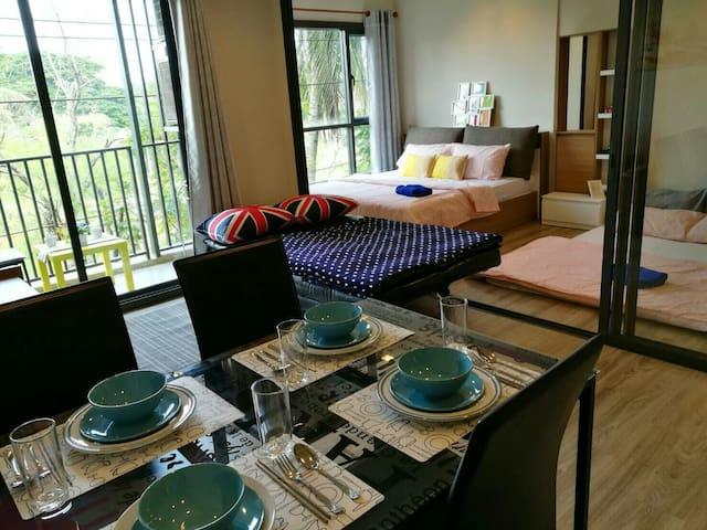 Cozy&Modern for max 5ppl near beach - Cha-am - Appartement