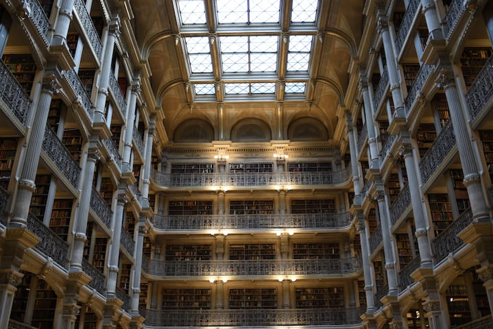 Famous Peabody Library across the street