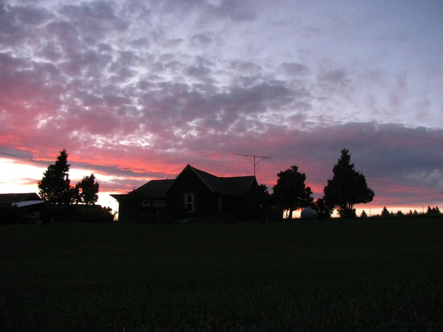 Sunset on the ranch.