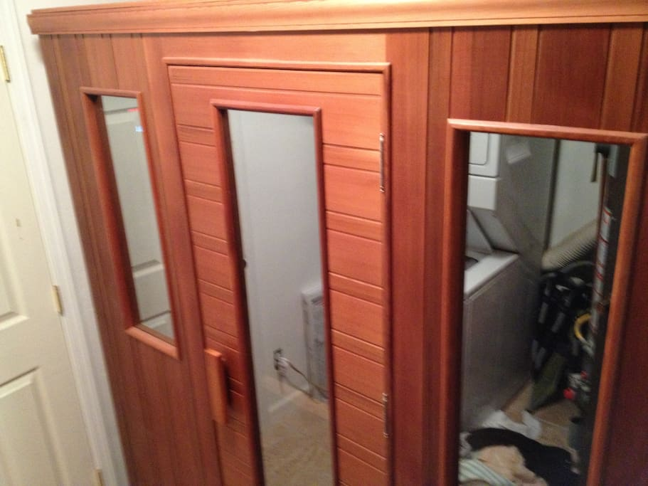 Healthmate's Infrared Sauna- dry heat provides proven health benefits and includes a sound system