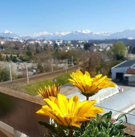 Au loin le Mt Blanc....1 autre jour