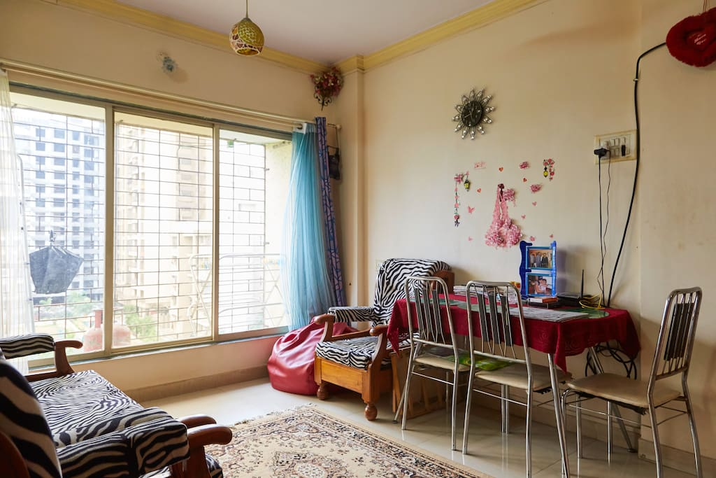THIS IS OUR LIVING ROOM WHICH GUESTS CAN USE.
