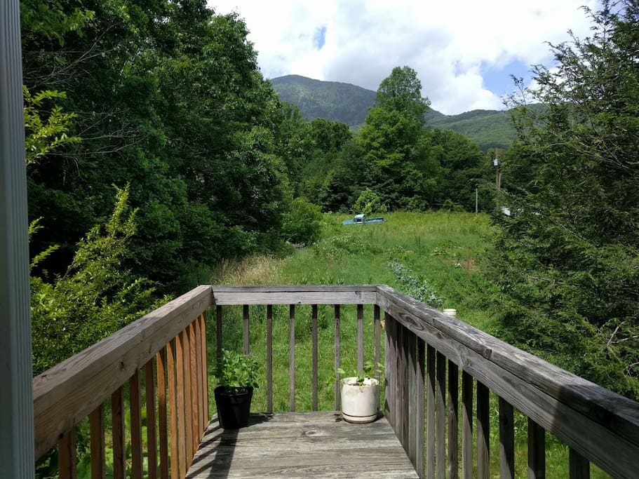 The deck looking out towards Celo Knob
