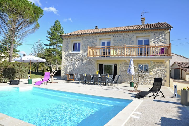 Luxury Villa with Private Pool in Saint-Victor-de-Malcap
