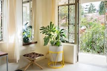 Private balcony in green surroundings in Kololo