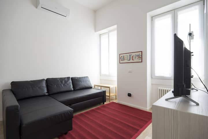 Cozy flat 50 meters from Lambrate M2 station!