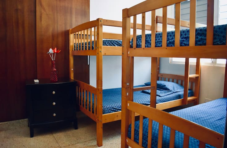 Second bedroom with 2 bunker beds (4 twin size beds).