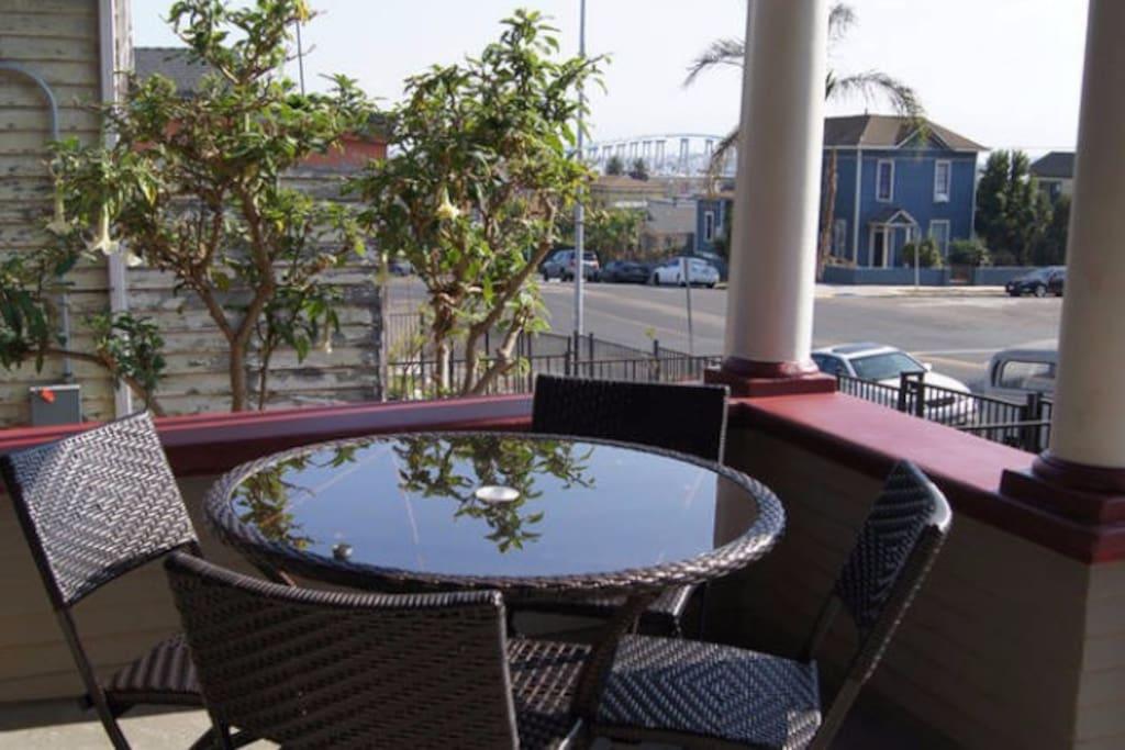 Enjoy a Morning Coffee with Views of  the Bay and Coronado Island.