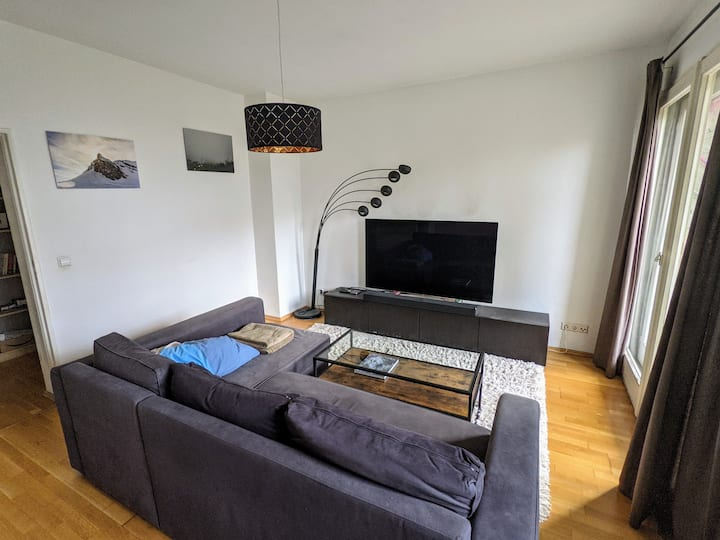 Cosy 2-room flat with home cinema and terrace