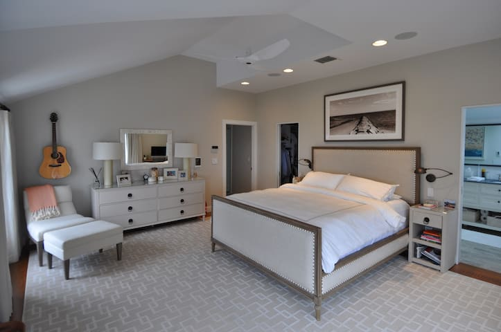 Master Bedroom with flat screen TV.