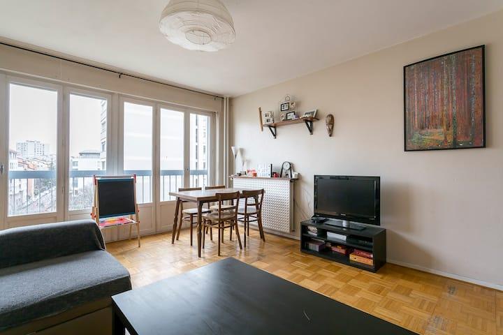 Beautiful flat next to la Halle Tony Garnier