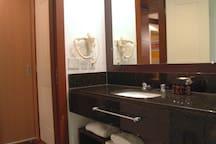 Banheiro com secador