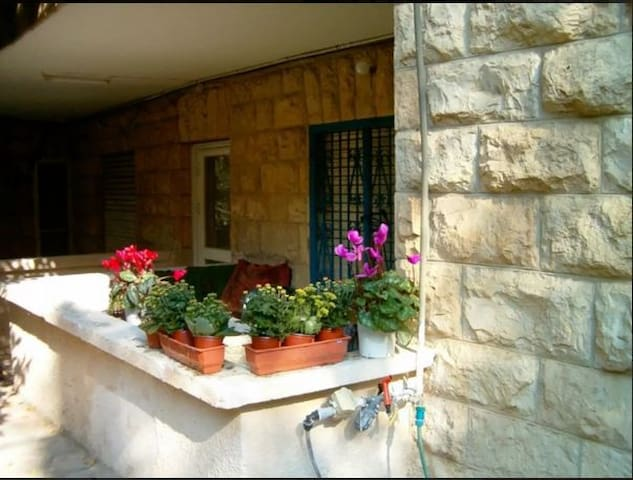Very cozy Sublet 1 BR in 2BR Ground Floor Apt.. - Gerusalemme - Appartamento