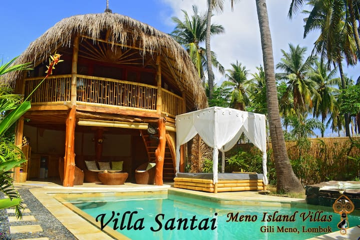 Villa Santai,@ Meno Island Villas, Gili Meno - Pemenang - Willa
