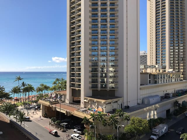 Ocean View, Steps to Beach from Waikiki PH Studio - Honolulu - Byt