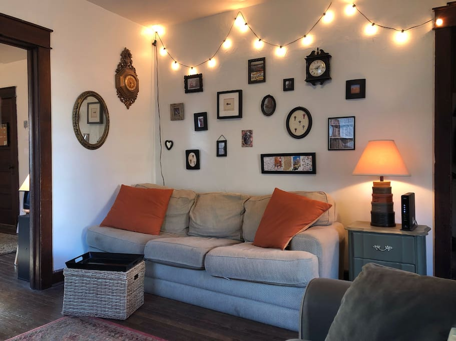 Cozy Living Room. Two Couches. Loveseat. Smart TV with Netflix, Hulu & Amazon.