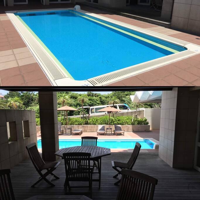 Free swimming pool.公寓私人游泳池 营业时间 08:00-18:00  每年4月-10月23日 开放