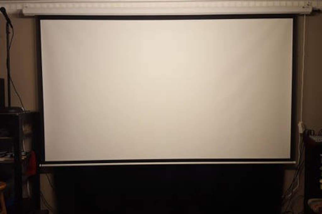 120' Electric 1080p Projector Screen