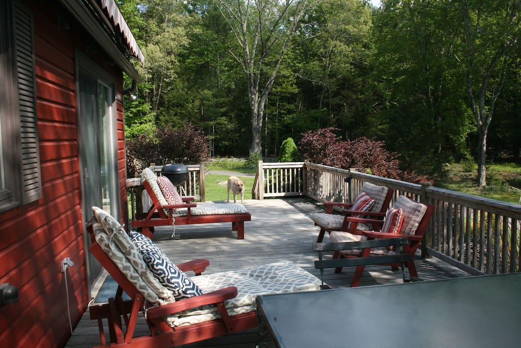 Another view of the spacious deck.