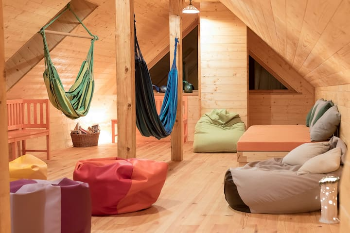 Common space/living room for all the guests. Here you can relax, read a book, play with your children.