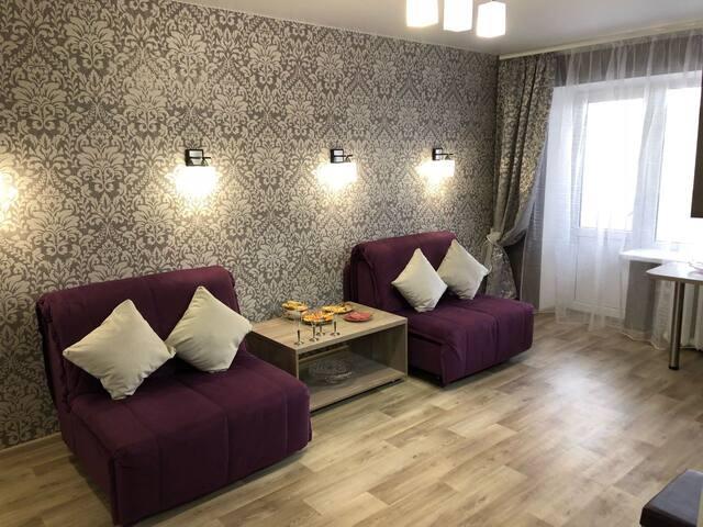 Квартира с евроремонтом уютная и удобная
