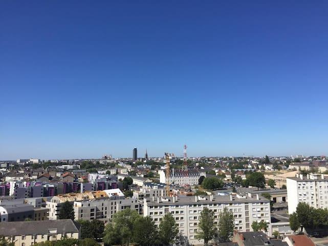 Appartement T2 de 50 m2 vue panoramique sur Nantes