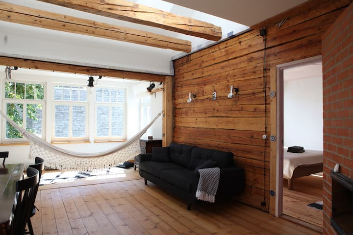 Estonian eco-luxury apartment in hipster town