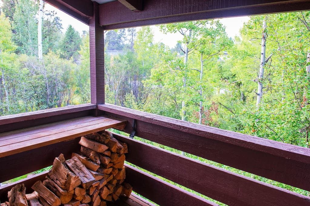 Sit on the porch and listen to the breeze blowing through the aspen trees.