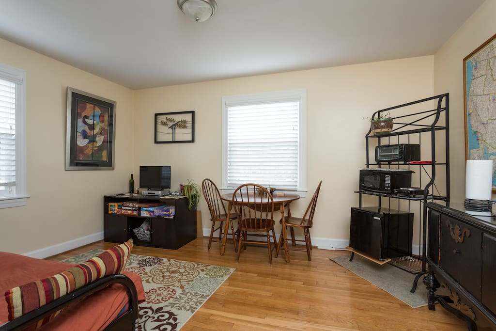 Your living room has all the comforts of home.