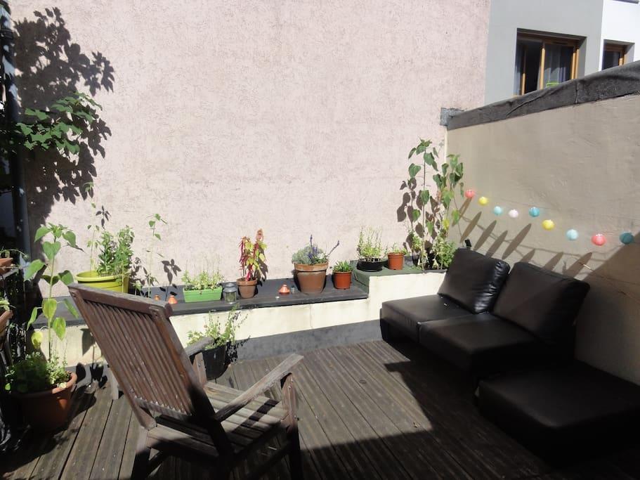 Terrasse partagée