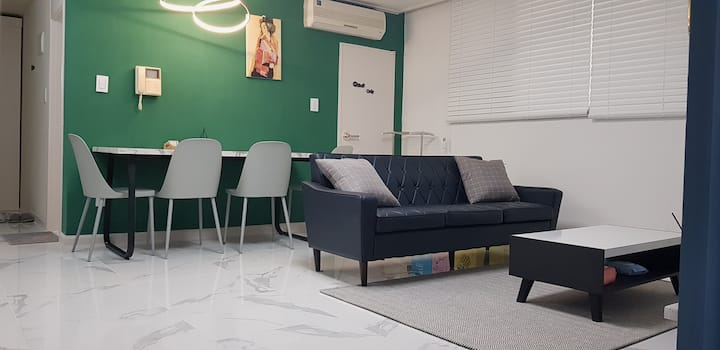 Gu-Wol  cozy stay#4k 넷플릭스#공기청정기#2min 지하철,cgv,길병원