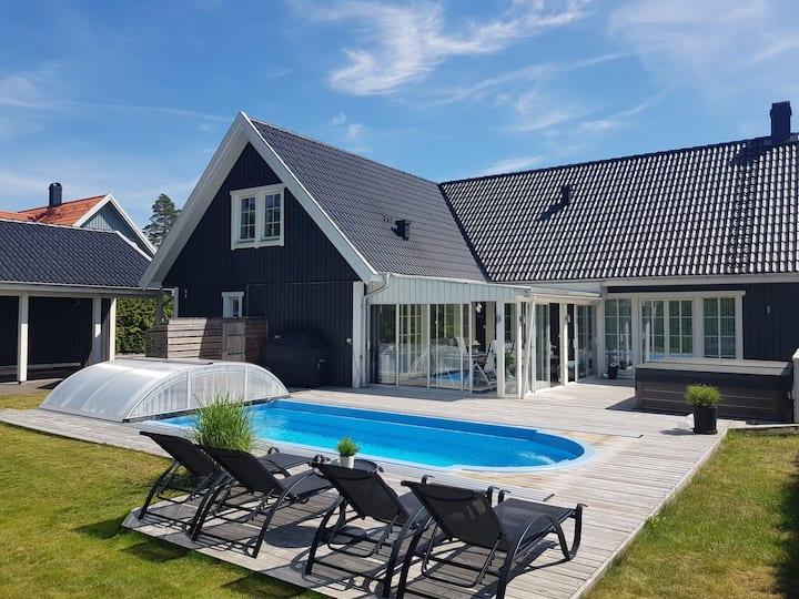 Mycket attraktivt hus med lyx i Kalmar.
