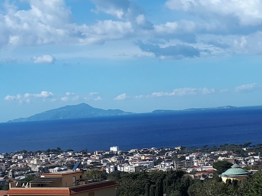 panoramic of the islands of Ischia and Procida