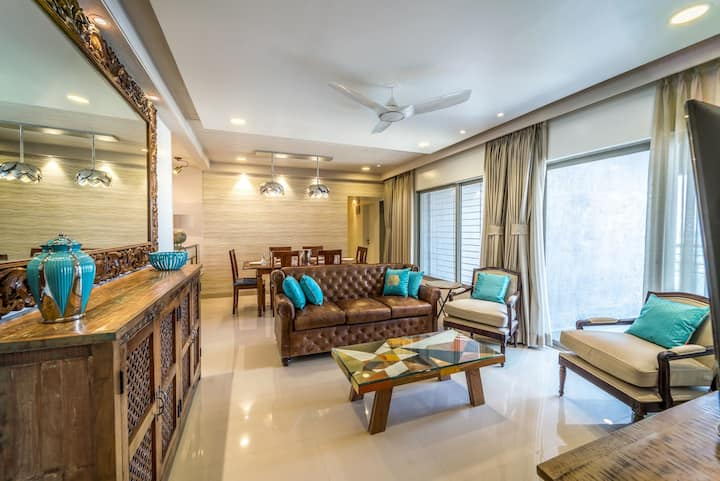 Families & Corporates, Luxe 3BR Apt, Fashion Res, Pune - FREE BUTLER SERVICE