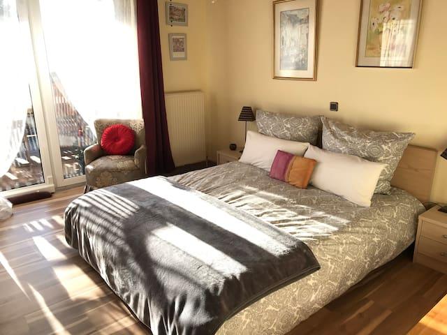 Extra bedroom upstairs with balcony